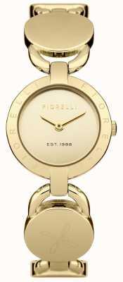 Fiorelli Złota bransoleta damska złota tarcza FO001GM