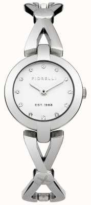 Fiorelli Damska bransoletka srebrna biała tarcza FO003SM