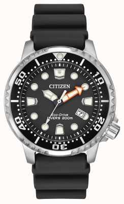 Citizen Eko-napędowy promaster nurek czarny gumowy pasek BN0150-28E