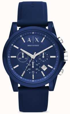 Armani Exchange Chronograf niebieski silikon AX1327