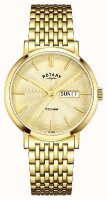 Rotary Męska złota tarcza złota GB05303/03