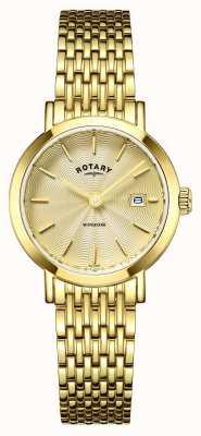 Rotary Damski zegarek windsor pozłacany LB05303/03