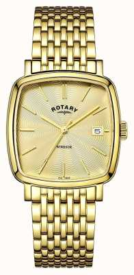 Rotary Mens windsor gold pvd plated GB05308/03
