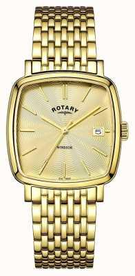 Rotary Męska powłoka PVD w kolorze złota Windsor GB05308/03