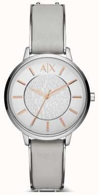 Armani Exchange Zegarek ze skórzanym paskiem Ladies olivia AX5311