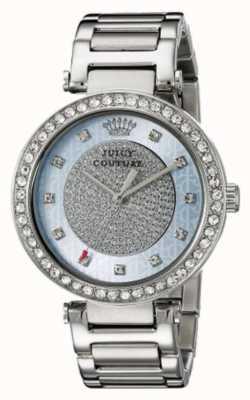 Juicy Couture Damski srebrny pasek okrągły srebrny tarcza 1901266