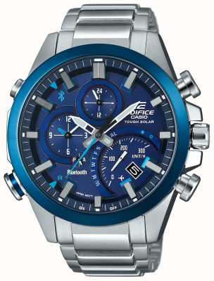Casio Synchronizacja Bluetooth bluetooth Twarde inteligentne niebieskie zegarki EQB-501DB-2AMER