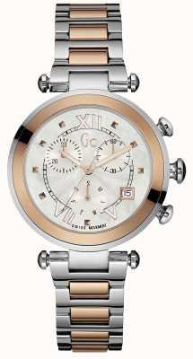 Gc Dwukolorowy chronograf damski gc Y05002M1