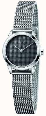 Calvin Klein Damska minimalistyczna szara tarcza K3M2312X