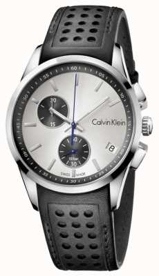 Calvin Klein Męski czarny pasek z białą tarczą K5A371C6