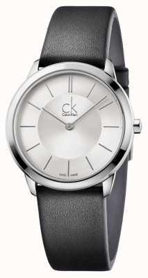 Calvin Klein Męska minimalistyczna srebrna tarcza K3M221C6