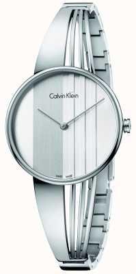Calvin Klein Damska srebrna tarcza wybierania K6S2N116