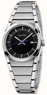Calvin Klein Ladies step watch czarna tarcza K6K33143