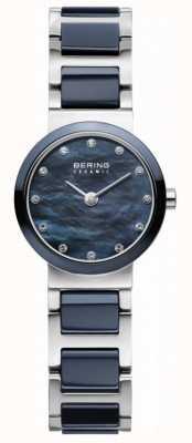 Bering Damska niebieska tarcza niebiesko-srebrny pasek 10725-787