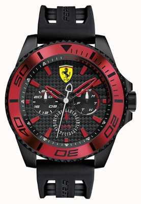 Scuderia Ferrari Męski czarny gumowy pasek czarna tarcza czerwony detal 0830310
