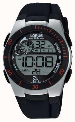 Lorus Podstawowy czarny silikonowy pasek Novak R2375KX9