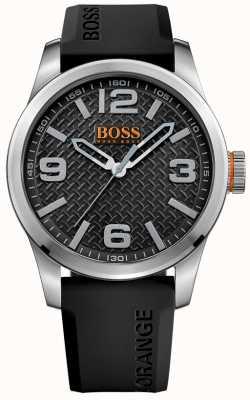 Hugo Boss Orange Męski paryż czarny gumowy pasek czarna tarcza 1513350