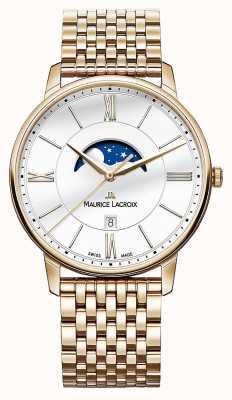Maurice Lacroix Mens eliros pozłacane zegarek księżycowy EL1108-PVP06-112-1