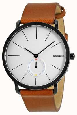 Skagen Męski skórzany pasek zegarka Hagen SKW6216