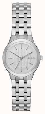 DKNY Srebrny damski zegarek na stokach NY2490