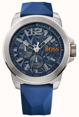 Hugo Boss Orange Męski niebieski pasek z gumową niebieską tarczą 1513348