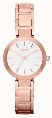 DKNY Womans biała bransoleta z różowego złota NY2400