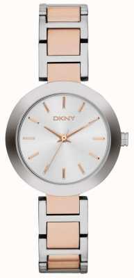 DKNY Womans biały pasek wybierania dwóch tonów NY2402