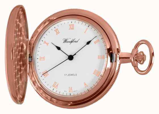 Woodford Pełen złoty zegarek kieszonkowy z różowego złota 1091