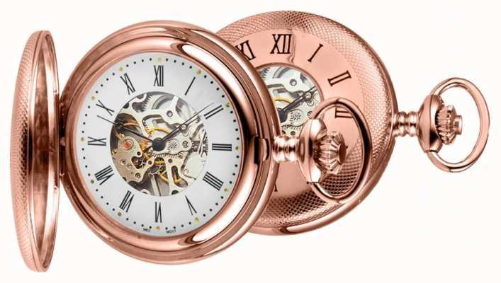 Woodford Różowo-złoty zegarek kieszonkowy 1092