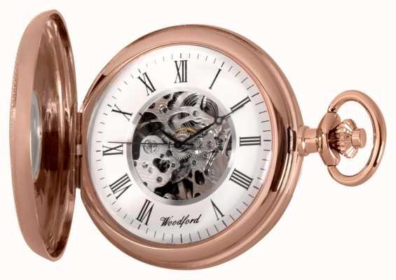Woodford | pół łowca | różowe złoto | zegarek kieszonkowy | 1092