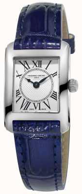 Frederique Constant Damski carree niebieski skórzany pasek srebrnej tarczy FC-200MC16