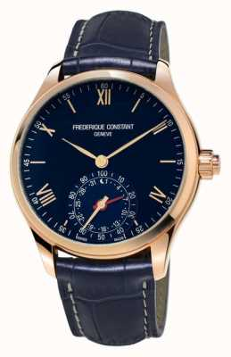 Frederique Constant Horology smartwatch blue rose gold bluetooth FC-285N5B4