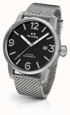 TW Steel Męski, indywidualny pasek chronografu z czarną tarczą MB13