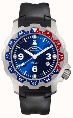 Muhle Glashutte Męski zegarek z czarnej gumy M1-28-82-KB