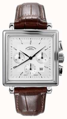 Muhle Glashutte Teutonia ii kwadrant chronograf skórzany pasek srebrny tarcza M1-33-35-LB