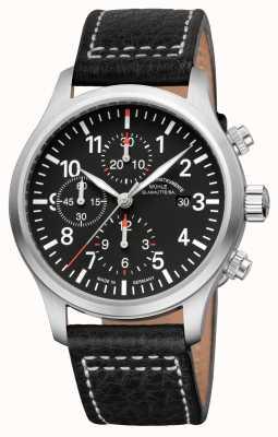 Muhle Glashutte Terrasport i chronograf skórzana czarna tarcza M1-37-74-LB