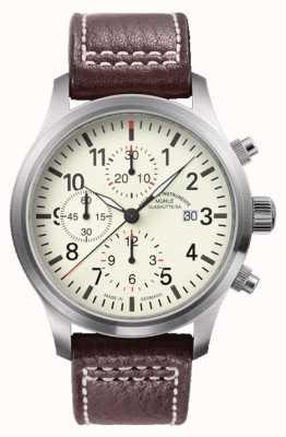 Muhle Glashutte Terrasport i chronograf skórzana opaska skórzana M1-37-77-LB