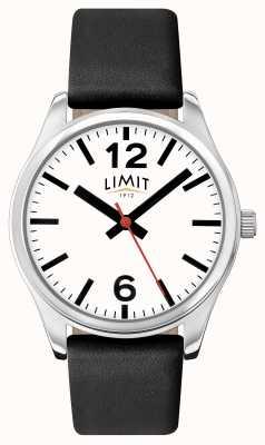 Limit Damski czarny pasek z białą tarczą 6181.01