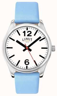 Limit Damski niebieski pasek na białej tarczy 6182.01