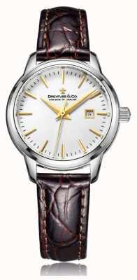 Dreyfuss Zegarek wykonany w szwajcarskim stylu z brązowym paskiem DLS00125/02