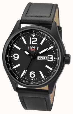Limit Męski pilot czarny pasek czarna tarcza 5621.01