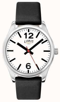 Limit Męski czarny pasek z białą tarczą 5626.01