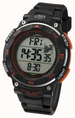 Limit Męski zegarek sportowy z czarnym paskiem w kolorze pomarańczowym 5485.66