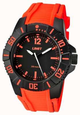 Limit Mężczyzna aktywny pomarańczowy pasek czarna tarcza 5547.02