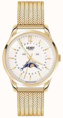 Henry London Męskie pozłacane pasy ze złotem HL39-LM-0160