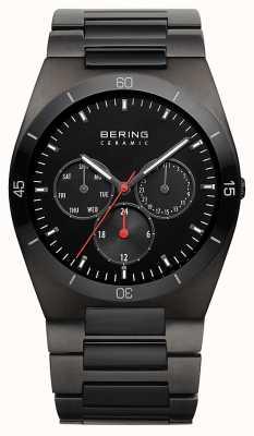 Bering Mężczyzna czarny platerowana platyna czarna tarcza 32341-792