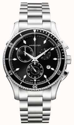 Hamilton Mens jazzmaster seaview czarna tarcza chronografu H37512131