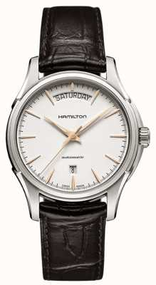 Hamilton Mens jazzmaster day brown leather strap H32505511