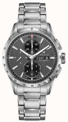 Hamilton Męski automatyczny chronograf z czarnym wybiegiem H43516131