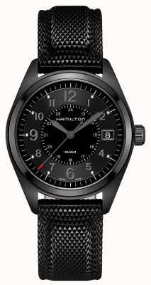 Hamilton Męskie pole khaki czarny materiał czarna tarcza H68401735